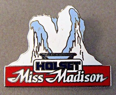 """Racing-other 1989 Holset Miss Madison 1.5"""" Chrome Hydroplane Boat Racing Tack Pin Pleasant In After-Taste"""