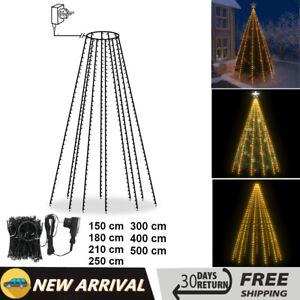 Decorazioni Natalizie A Led.Rete Luci Per Albero Di Natale Impermeabile Led Decorazioni Natalizie Raduno Ebay
