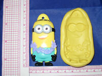 Despicable Me Hula Minion Flex Silicone Push Mold Fondant Resin Clay A477 Candy