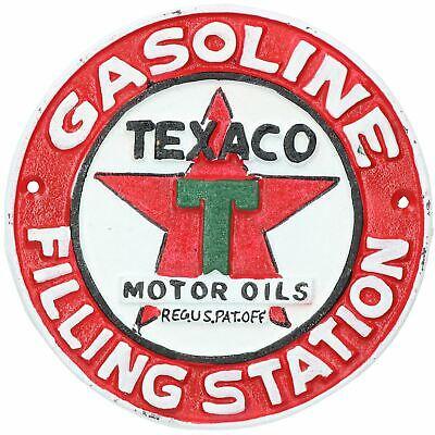 Castrol Round Cast Iron Sign Plaque Wall Garage Workshop Shop Oil Motor Car