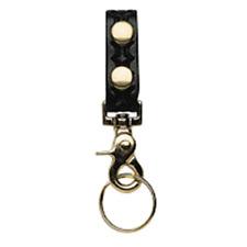 "Boston Leather 5499-3 Black BW 1/"" Wide Belt Keeper Chrome Buckle Key Pocket"