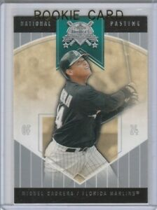MIGUEL CABRERA ROOKIE CARD Baseball Miami Florida Marlins Fleer RC Nat'l Pastime