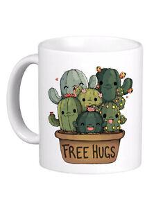 Tazza MUG free Hugs Cactus spine vaso gruppo cactus - REGALO SIMPATICA 10072
