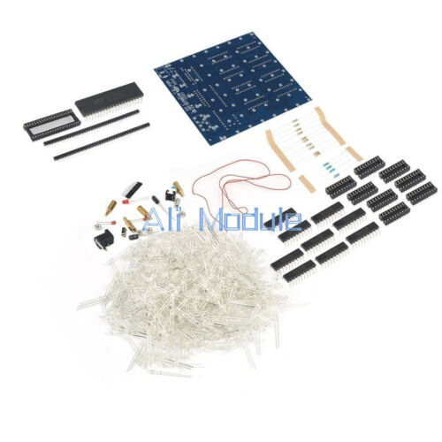 3D 8x8x8 Luz Squared Hágalo usted mismo kit 3mm LED Cubo LED blue Ray M114