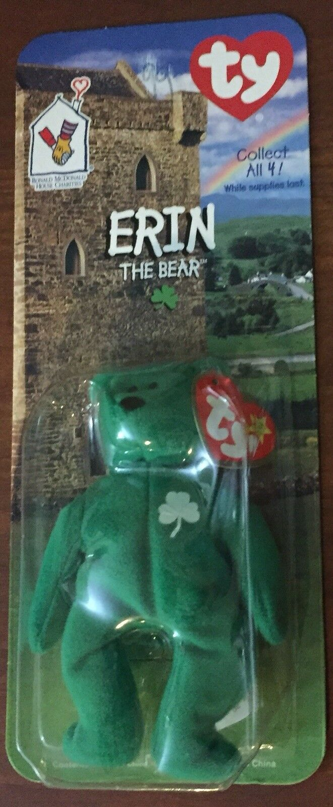 Erin The Bear-McDonald's Ty Beanie Baby With Rare Errors
