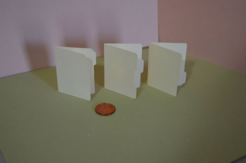 set of 3 in 1:6 play scale Miniature File Folder