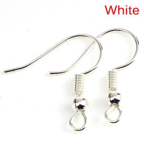 200PCS//Bag Earrings Hook Clasp Ear Hook Wire Bead DIY Jewelry Making Findin KH