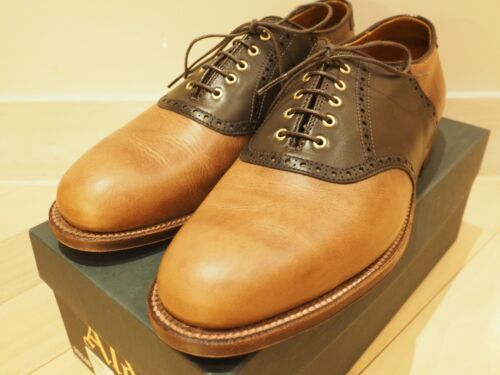 Alden saddle shoe natural chromexcel barrie US8.5D