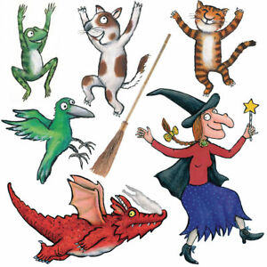 room on the broom group self adhesive wall sticker set clip art witches cauldron clip art witches dangling feet