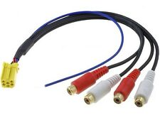 Blaupunkt Coche Radio Estéreo trasero Pre Amplificador conduce conexiones cables fuera
