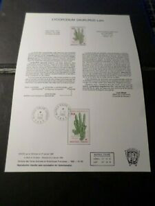 TAAF-DOCUMENT-NOTICE-FDC-1986-timbre-119-FLORE-PLANTES-LYCOPODIUM-FLOWERS
