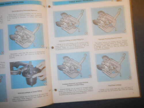 1969 FORD POWER STEERING PUMP DIAGNOSIS /& TESTING SERVICE TECHNICIAN MANUAL