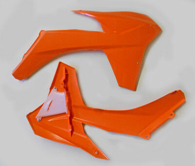 Cycra Powerflow Intake Radiator Shrouds Orange for KTM 250 SX-F 2011-2012