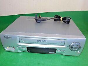 Goodmans-VN9850S-Grabadora-de-cassette-de-video-VHS-VCR-de-Plata-Delgado-Completamente-Probado