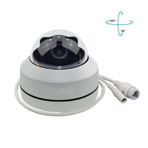5MP Mini PTZ IP Camera Super HD 2592x1944 Pan//Tilt 4X Zoom IR Dome Camera PoE