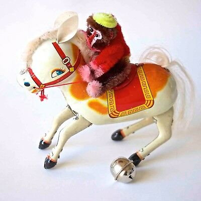 Blechspielzeug Tin Toy China Zirkuspferd 'monkey Riding Horse' Orig.box 70er J. Antiquitäten & Kunst