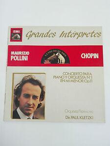 CHOPIN Mauricio Pollini Op 11 LP EMI 1960  Grandes Interpretes.