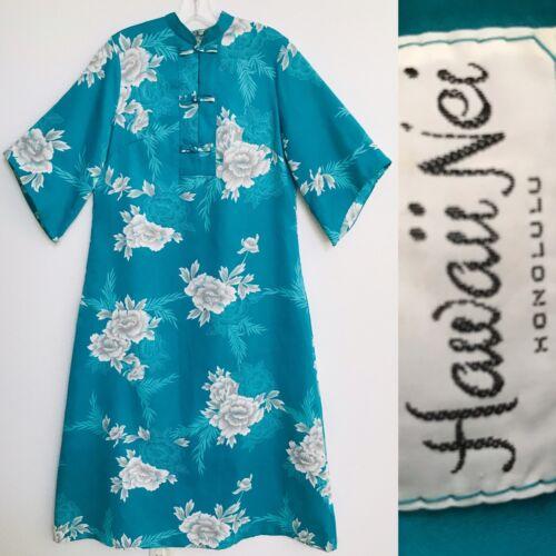 HAWAII NEI Vintage 70s PAKE MUU Hawaiian Caftan DR