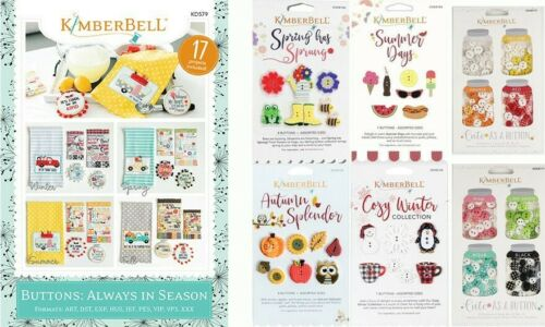 Buttons Always in Season KD579 6 Button Sets Kimberbell Designs Machine CD