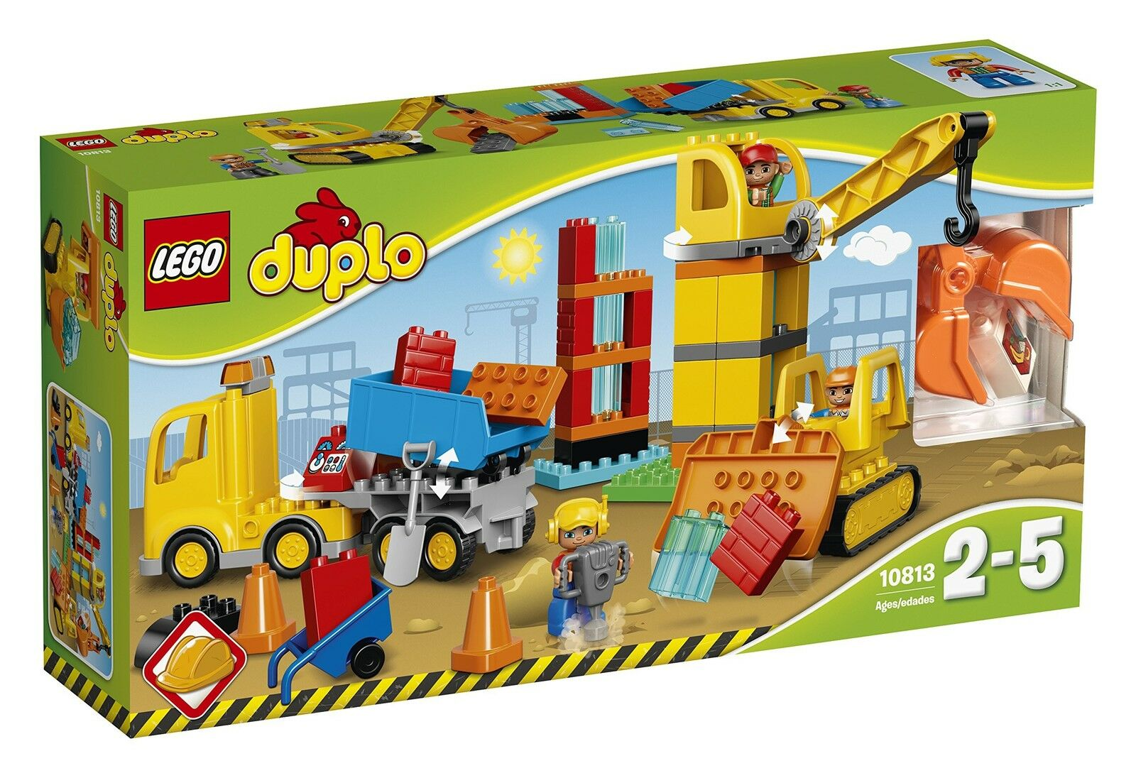 Lego Duplo Ville Ville Ville 10813 Grand Site De Construction Building Kit (67 pièces) 87d054