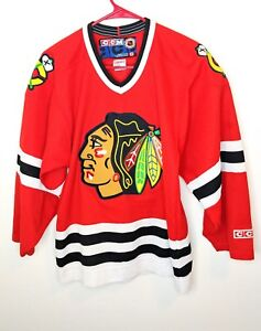 Image is loading CCM-Classic-NHL-Jersey-Chicago-Blackhawks-Team-Red- 066aa18bc