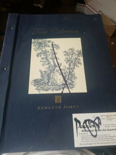 Kenneth james toile collection wallpaper scrap book