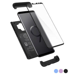Galaxy-S9-S9-Plus-Spigen-Thin-Fit-360-Hybrid-Cover-Tempered-Glass-Case