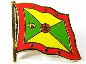 Grenada-Flaggen-Pin-Anstecker-1-5-cm-Neu-mit-Druckverschluss