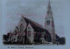 "PRINT 10"" X 7""  ST MARYS CHURCH MORTIMER BERKSHIRE c1902"