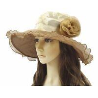 Women Lady Church Derby Hat Wide Brim Derby Hat Wedding Dress Hat Tea Party HAT