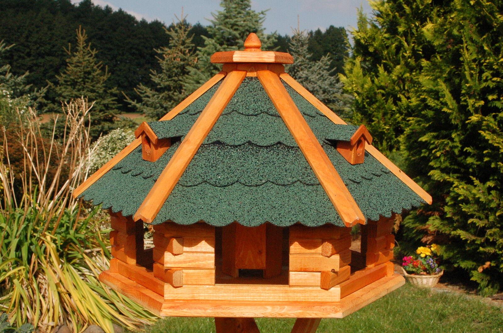 Enorme XXL Casetta uccelli Villa Casa Mangime Uccelli Casetta 67x45 cm tetto verde