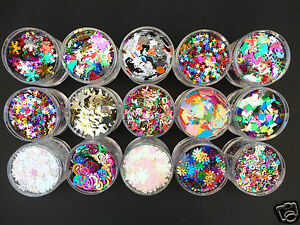 MULTI-CHOICE-SEQUINS-CONFETTI-CRAFT-EMBELLISHMENT-SEWING-WEDDING-TABLE-PARTY