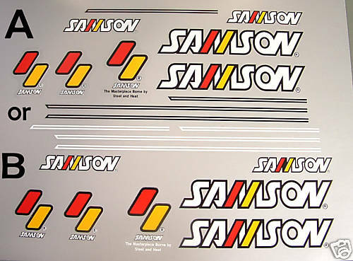 Samson decals for Japanese vintage classic one set only