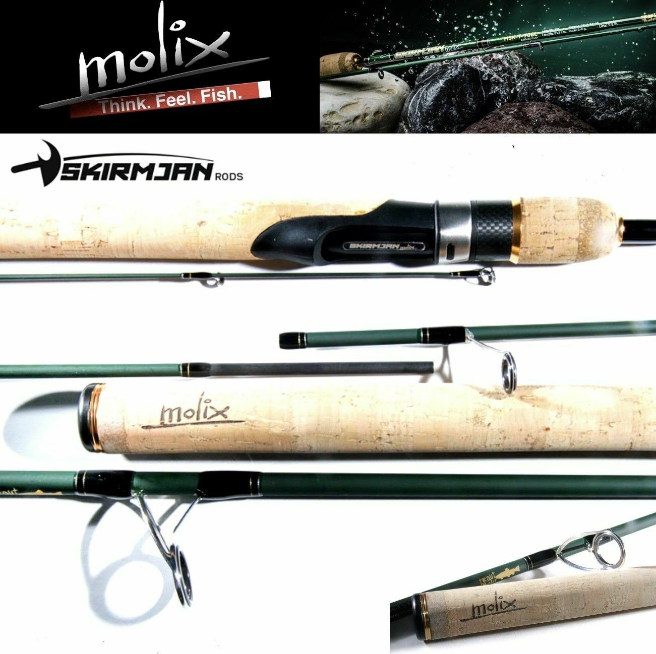 MOLIX TROUT HUNTER SPINN RODS SKIRMJAN