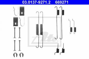 Zubehörsatz Bremsbacken für Bremsanlage Hinterachse ATE 03.0137-9271.2