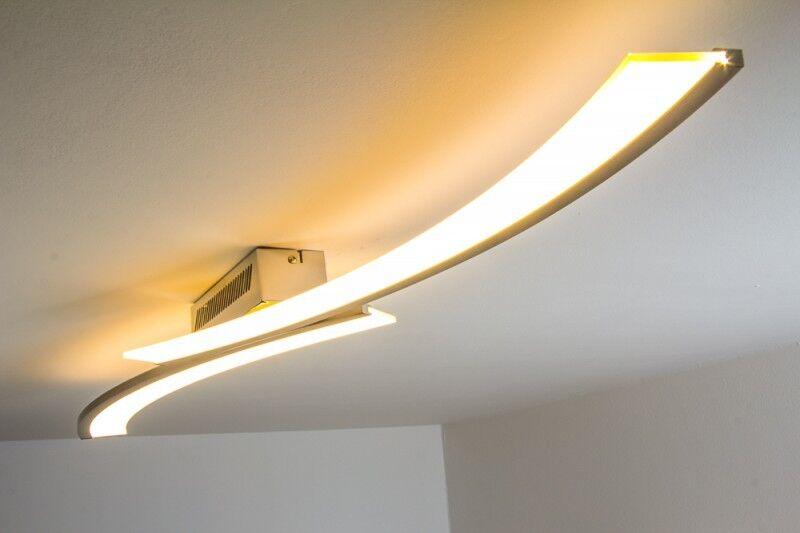 LED Lampada da soffitto plafoniera design moderno 1x21,6W acciaio IP20 117444