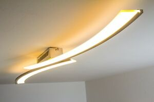 Plafoniere Led A Soffitto Moderno : Led lampada da soffitto plafoniera design moderno 1x21 6w acciaio