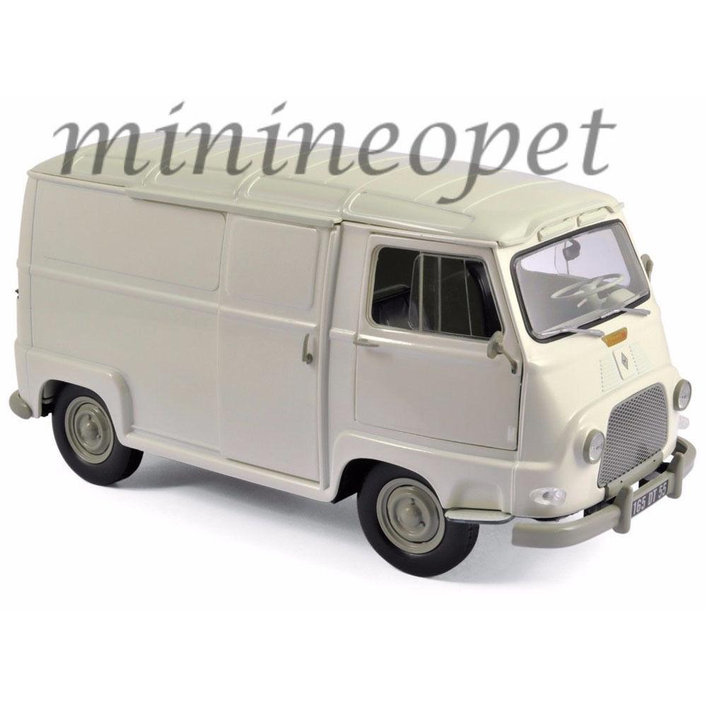 NOREV 185174 1965 RENAULT ESTAFETTE VAN 1 18 DIECAST MODEL CAR WHITE