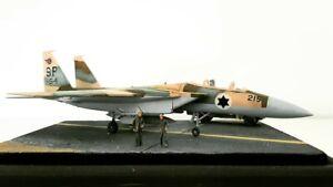 1-100-H0-F-15-Eagle-Israeli-Air-Force-Diorama-gebaut-und-lackiert