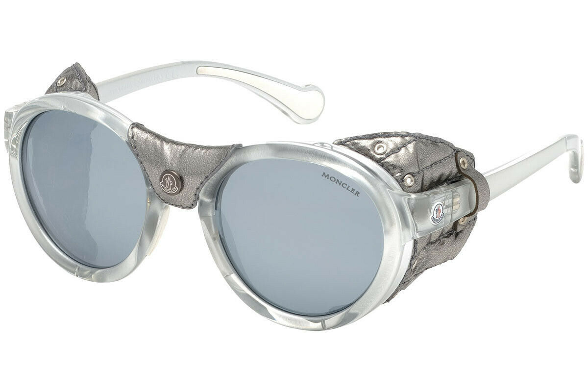 Authentic MONCLER ML 0046 20D Sunglasses Grey / Smoke Polarized *NEW* 52 mm