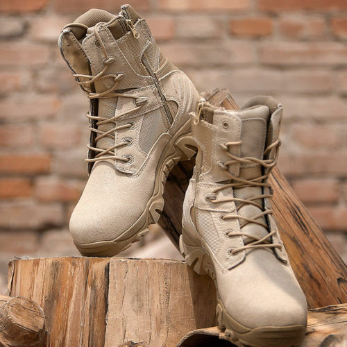 Men Outdoor Tactical Leather Boots Military Combat Army  Desert SWAT shoes Patrol  order now with big discount & free delivery