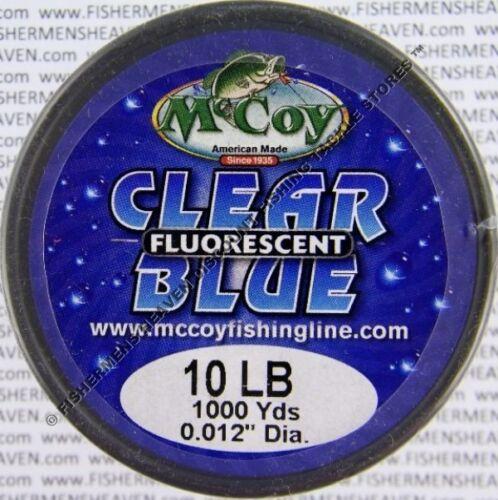 McCoy Fishing Line CoPolymer BULK Spool Fluorescent Blue 10LB Test
