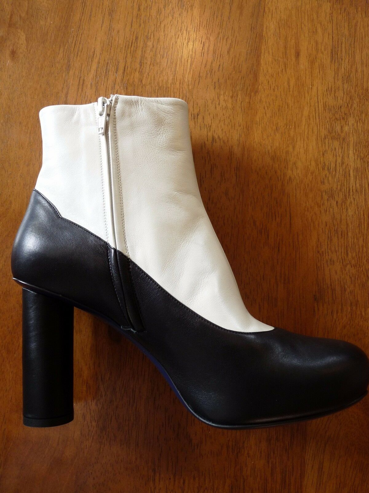 Grandes zapatos con descuento Sonia Rykiel High Heel Black & White Leather Ankle Boots  EU 40   469   BNIB