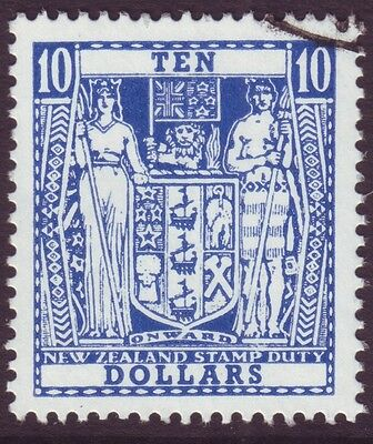 NEW ZEALAND $10 ARMS VERY FINE USED (A1296)