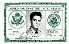 Elvis Presley Army ID card - Mint Condition Collectable