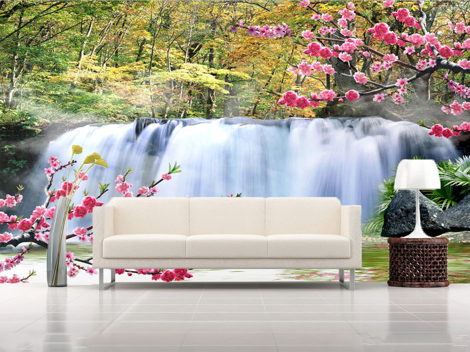 3D Woods, streams 213 Wall Paper Wall Print Decal Wall Deco Indoor Wall Murals