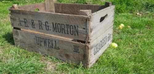 Anglais verger Vintage en Bois Apple caisses Boîte de Rangement Fruit caisses Box
