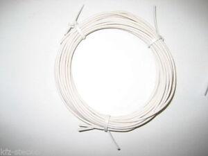 KFZ Kabel Leitung FLRy 0,5mm² 10m weiß Fahrzeugleitun<wbr/>g Auto Pkw Lkw