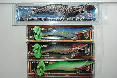 3x seiche Octopus squid gigue set Flash gigue taille 4.0