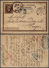 Ferrara 12.4.1876 Cartolina Postale 10 cent(C1)V.E. II x Praga